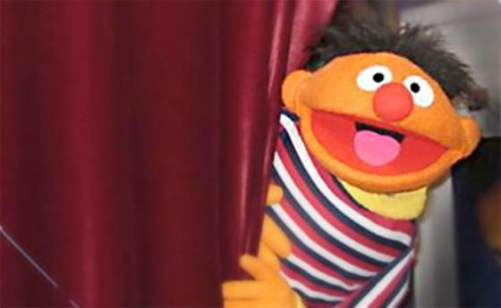 Ernie Muppet replica