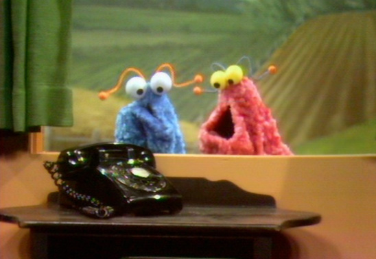 Sesame Street's Yip Yip Martians in their famous 1971 telephone skit