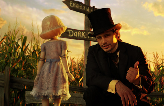 """James Franco with the China Girl in """"Oz The Great and Powerful"""""""