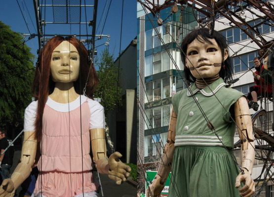 Comparing to very similar giant girl puppets by The Character Shop and Royal DeLuxe