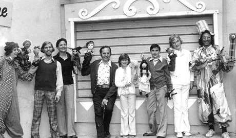 Lewis Mahlmann at the 1974 Fairyland Puppet Fair