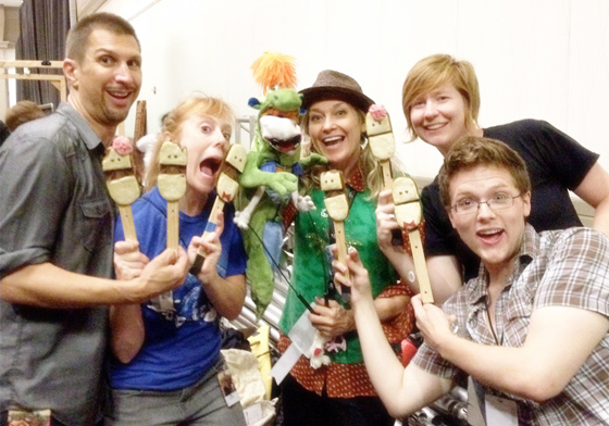 Puppeteers at Dragon Con 2012