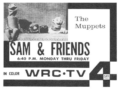 Early print ad for Jim Henson's Sam and Friends