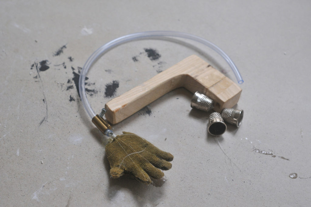 Garden Ape hand mechanism