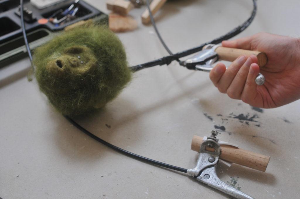 Head mechanisms for Marc and Emma's Garden Ape