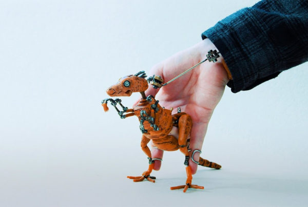 Barnaby Dixon's Dabchek puppet