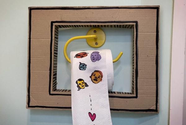 """Still from Annie Katusra-Rollins' toilet paper crankie """"Soon"""""""