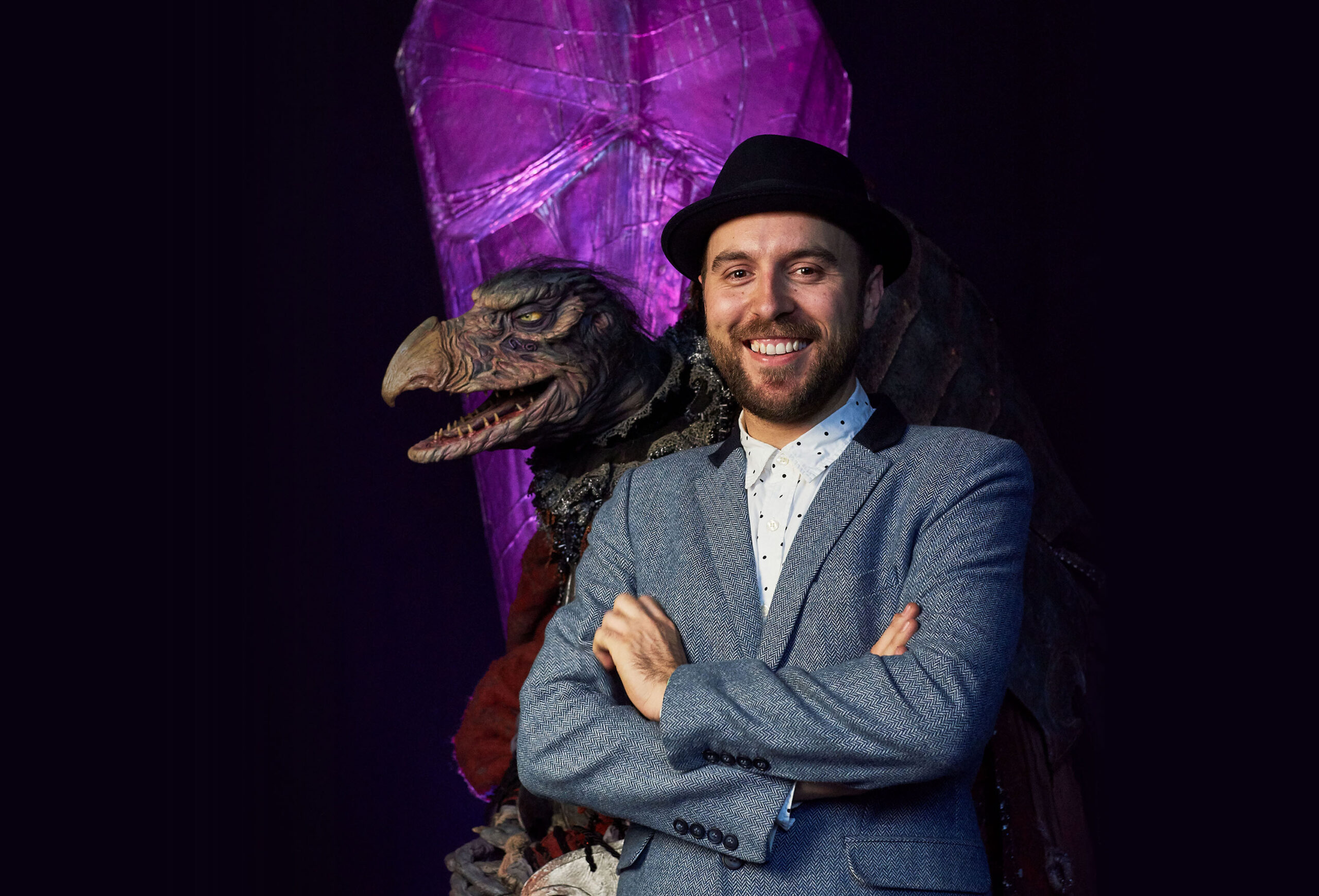 """Warrick Brownlow-Pike and The Chamberlain from """"The Dark Crystal: Age of Resistance"""" (photo: Kevin Baker / Netflix)"""